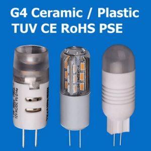 Ceramic / Plastic Material G4 LED Bulb