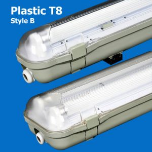 Plastic T8 Waterproof Lights